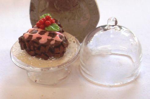 1:24th Scale Chocolate & Cherry Cake