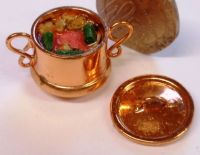 1:24th Scale Large Copper Casserole