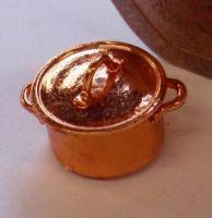 1:24th Scale Copper Casserole