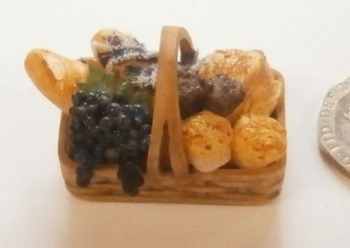 Basket of Bread and Grapes