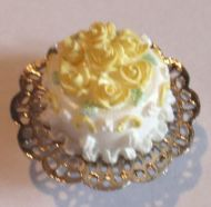 A Lemon Rose Cake