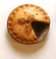 Meat Pie on Pewter Plate