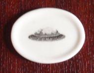China Platter with Rabbit Motif