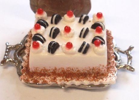 Oreo Cake on Silver Tray