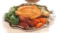 Chicken Dinner on Serving Tray