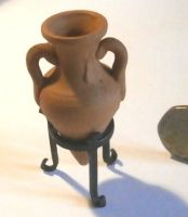 Wine Amphora and Stand