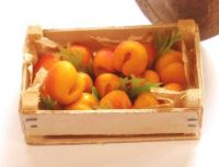 Crate of Fresh Peaches