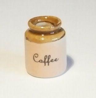 Stoneware Storage Jar - Coffee